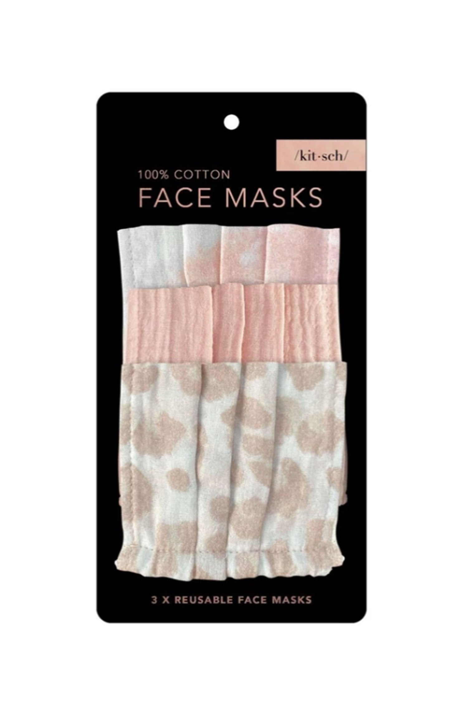 Cotton Face Mask 3 Pack - Blush