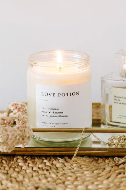 Minimalist Candle- Love Potion
