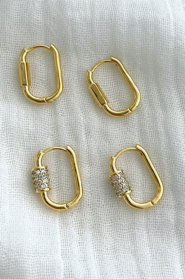Toggle Hoops - Pave Detail