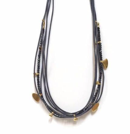 ELENI GREY NECKLACE + HEMATITE