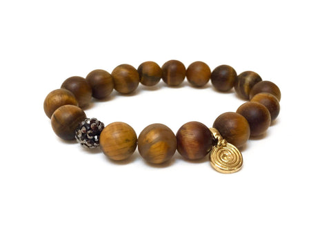 TIGERS EYE MATTE SPARKLE BRACELET