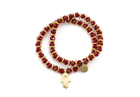 POWER RED CRYSTAL BRACELET