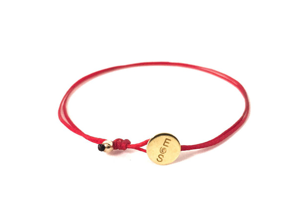 AGAPI RED 14K GOLD BRACELET