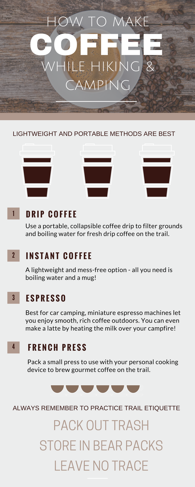 how to make coffee in the back country