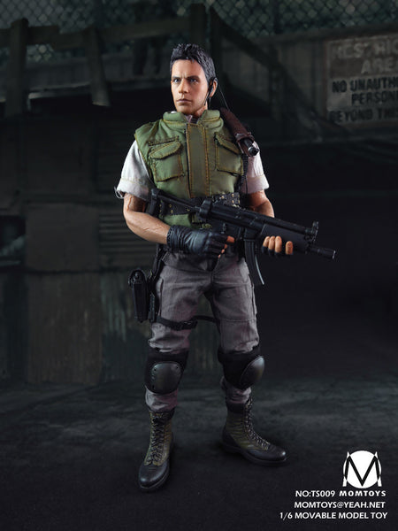 1/6 Scale RE Zombie Hunter Chris Figure by Mom Toys