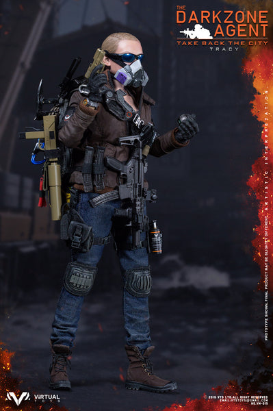 1/6 Scale Brown Dark Zone Agent Tracy Figure by Virtual Toys VTS