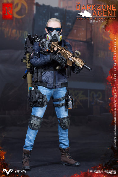 1/6 Scale Blue Dark Zone Agent Tracy Figure by Virtual Toys VTS