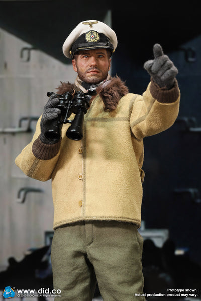 1/6 Scale WWII German U-Boat Commander - Lehmann Figure by DID