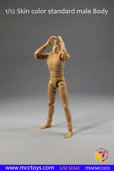 1/12 Scale Male Narrow Shoulder Body by MCC Toys