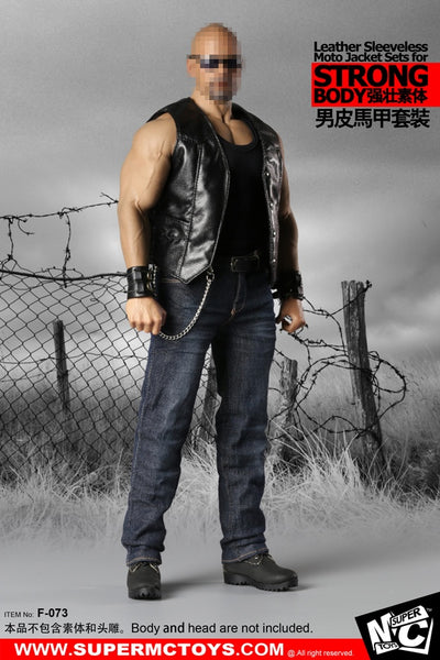 1/6 Scale Leather Moto Vest Set for M34/35 Body by SuperMC Toys