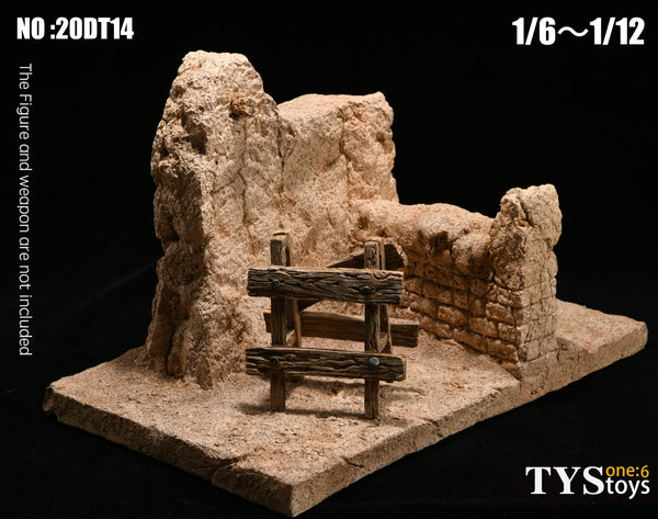 1/6 Scale Wall Ruins Diorama Base TYS Toys