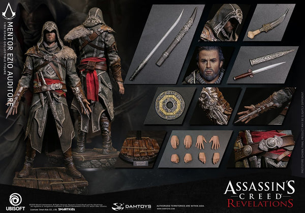 1/6 Scale Assassin's Creed Revelations – Mentor Ezio Auditore Figure by DamToys