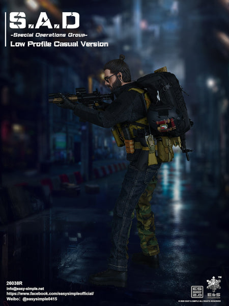 1/6 Scale  S.A.D Special Operation Group Low Profile Casual Version Figure Easy&Simple
