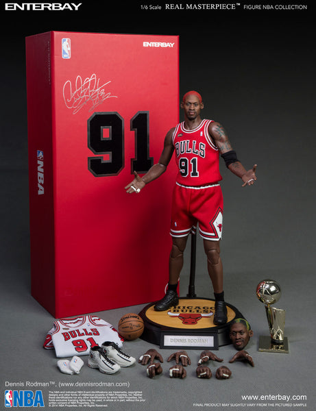 1/6 Scale Dennis Rodman NBA Chicago Bulls Figure by Enterbay