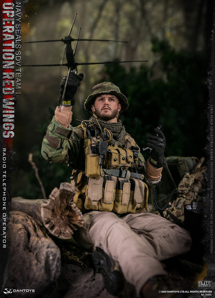 1/6 Scale Operation Red Wings NAVY SEALS SDV TEAM 1 Radio Telephone Operator Figure by DamToys