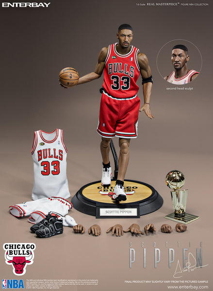1/6 Scale Scottie Pippen NBA Chicago Bulls Figure by Enterbay
