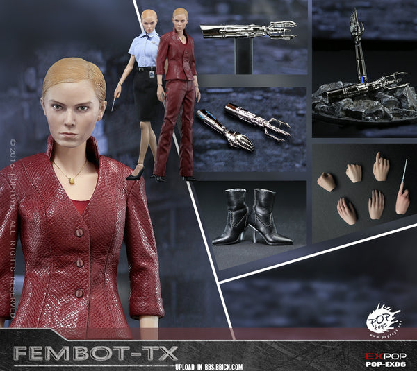 1/6 Scale T3 TX Fembot Figure by Pop Toys