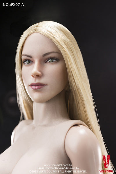 1/6 Scale Supermodel Head Sculpt and Female Body Set (Version A) by VERYCOOL