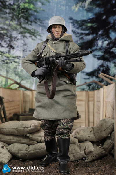 "1/6 Scale WW2 SS Panzer Division Das Reich MG42 Gunner ""Dustin"" Figure by DID"