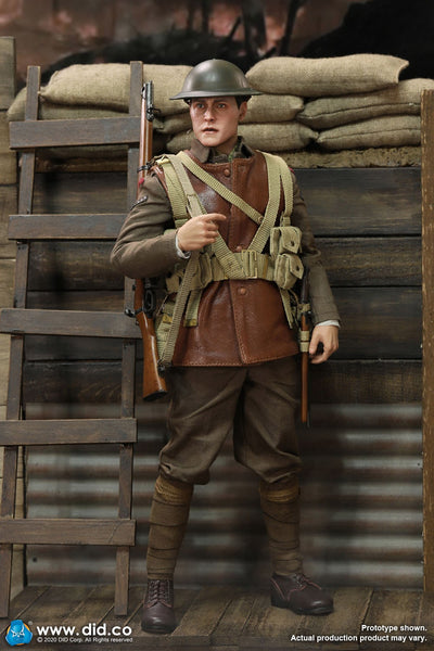 1/6 Scale WWI British Infantry Lance Corporal William Figure (Deluxe Edition) by DID