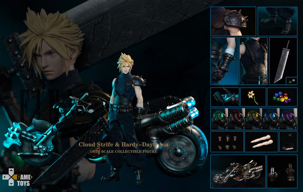 1/6 Scale Cloud Figure with H-D Motorcycle (Deluxe Version) by Game Toys