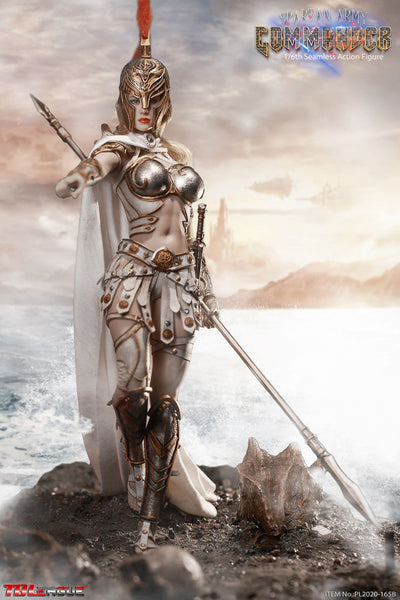 1/6 Scale Spartan Army Silver Commander Figure by TBLeague