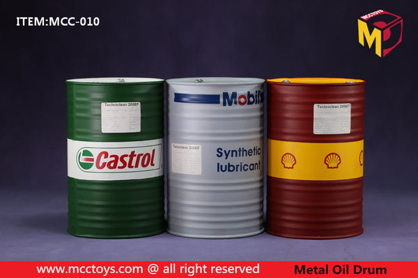1/6 Scale Metal Oil Drum (3 Colors) by MCC Toys