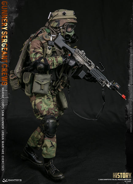 1/6 Scale Marine Corps SAW Gunner Urban Warfare Exercises - Gunnery Sergeant Crews Figure by DamToys