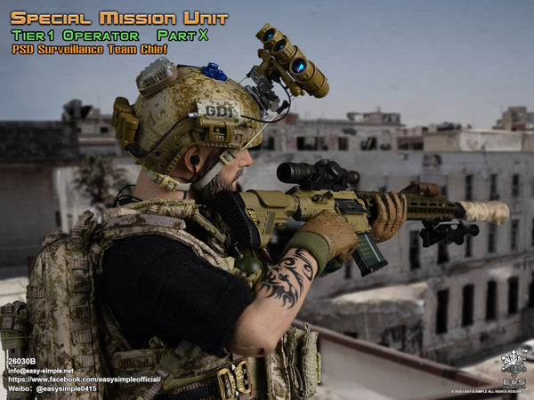 1/6 Scale Special Mission Unit Part X - PSD Surveillance Team Chief Figure by Easy&Simple