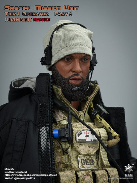 1/6 Scale Special Mission Unit Part X Frozen Night Assault - Tier 1 Operator Figure by Easy & Simple