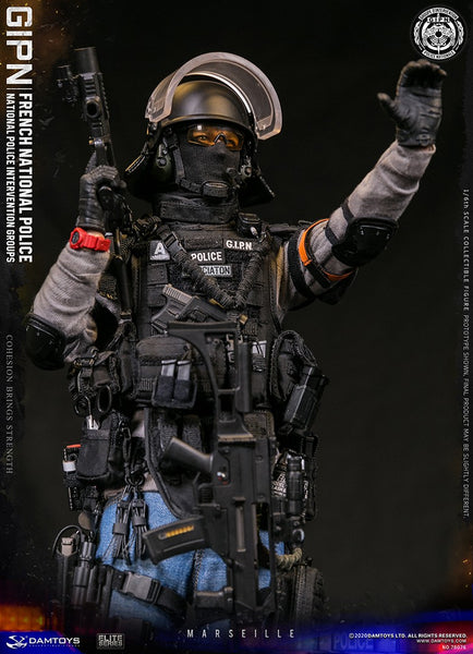1/6 Scale French National Police Intervention Groups - GIPN in Marseille Figure by DamToys