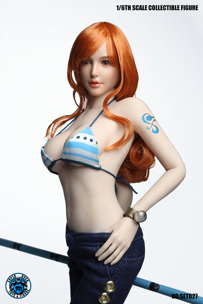 1/6 Scale Nami Navigator Head Sculpt & Outfit Set by Super Duck Toys