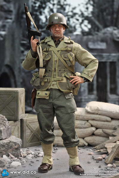 1/6 Scale WWII US 2nd Ranger Battalion Series 3 - Captain Miller Figure by DID