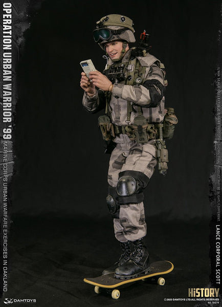 "1/6 Scale Operation Urban Warrior '99 - Marine Corps Urban Warfare Exercises in Oakland ""Lance Corporal Scott"" Figure by DamToys"
