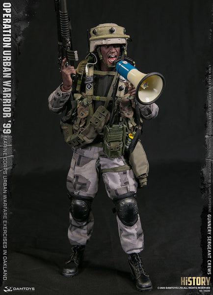 "1/6 Scale Operation Urban Warrior 99 - Marine Corps Urban Warfare Exercises in Oakland ""Gunnery Sergeant Crews"" Figure by DamToys"
