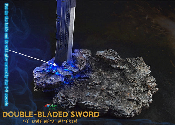 1/6 Scale Double-Bladed Sword Display Base by BY-ART