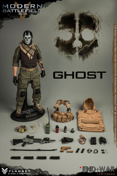 1/6 Scale Modern Battlefield End War V Ghost Figure by FLAGSET