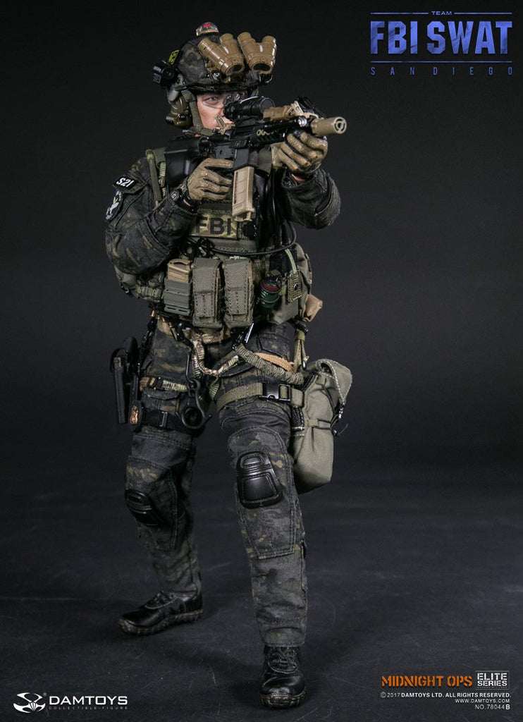 1/6 Scale FBI SWAT Team Agent San Diego Midnight Ops Figure by DamToys