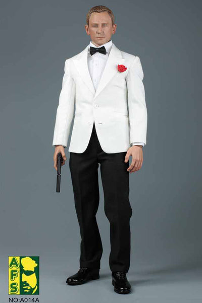 1/6 Scale White Dinner Jacket Tuxedo by AFS