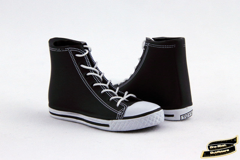 1/6 Scale Black/White All Star Sneakers