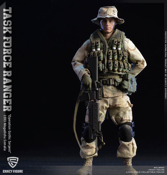 1/12 Scale US Military 75th Rangers Regiment Figure by Crazy Figure