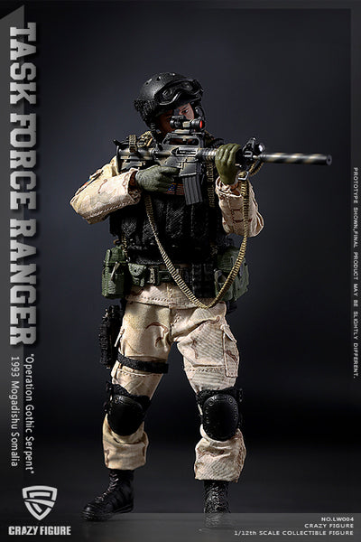 1/12 Scale US Delta Special Force Figure by Crazy Figure