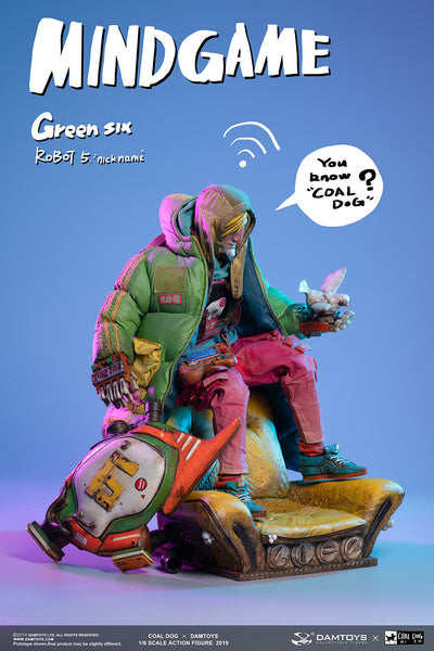 1/6 Scale Mindgame - Green Six Figure by DamToys x Coal Dog
