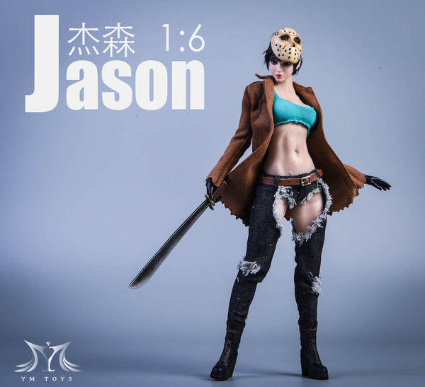 1/6 Scale Cosplay Jason Head Sculpt & Outfit Set by YMToys