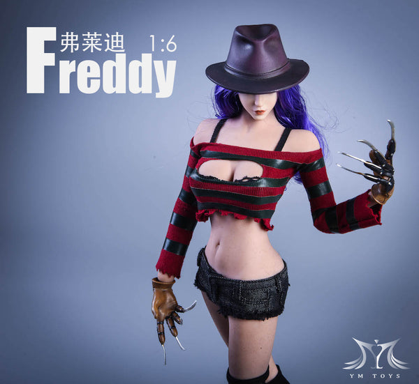 1/6 Scale Cosplay Freddy Head Sculpt & Outfit Set by YMToys