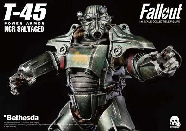 1/6 Scale Fallout T-45 NCR Salvaged Power Armor Figure by Threezero