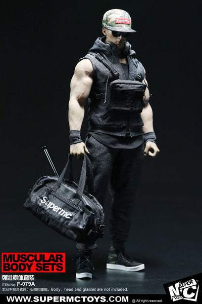 1/6 Scale Men's Muscular Body Fashion Set (2 Colors) by Super MC Toys