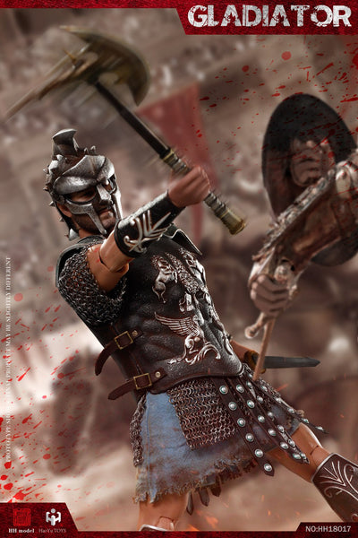 1/6 Scale Empire Gladiator & Imperial Female Warrior Figure Set (Red Version) by HY Toys