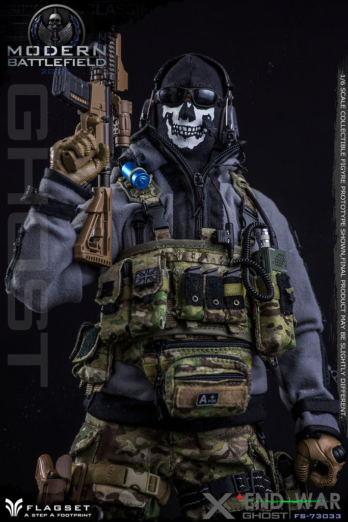 1/6 Scale Modern Battlefield End War Ghost X Figure by FLAGSET