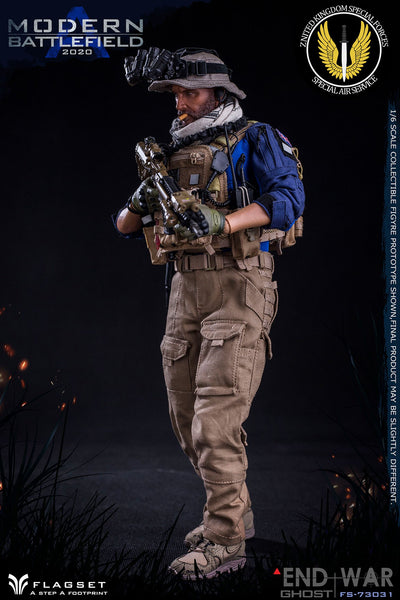 1/6 Scale Modern Battlefield End War A Ghost Figure by FLAGSET